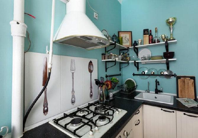Как скрыть газовые коммуникации на кухне